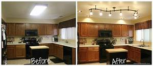 Mini Kitchen Remodel – New lighting makes a WORLD of