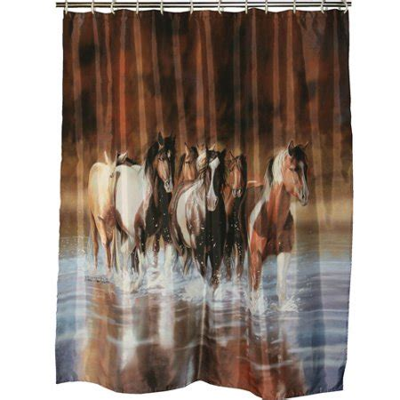 equine shower rivers edge products v shultz shower curtain