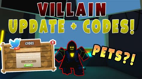 villain update  codes hidden pets roblox power