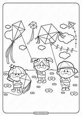 Kites Primarygames sketch template