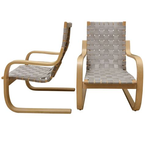 pair of alvar aalto birch lounge chairs at 1stdibs