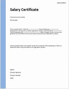 Salary Requirement On Cover Letter Salary Certificate Template Confirmation Letter