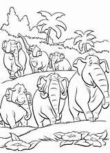 Coloring Pages Disney Jungle Herd Elephants Kid Animal Printable Kidsdrawing African Mowgli Animals Cartoon Majuu Ikidsdrawing sketch template