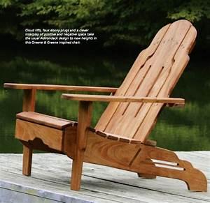 Greene and Greene Style Adirondack Chair Plans - Free