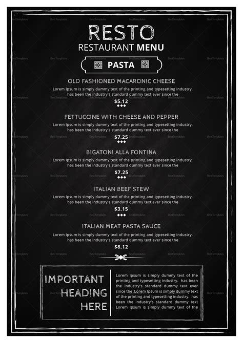 modern restaurant menu classic design template  psd