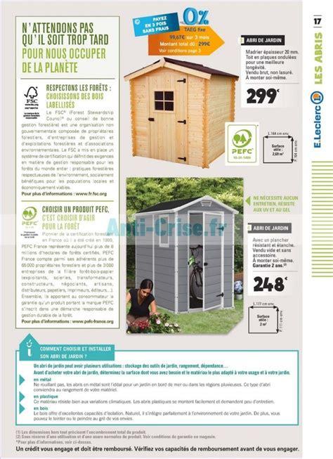 abri de jardin leclerc 299 euros