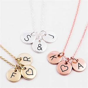 triple letter disc necklace by js jewellery With the letter a necklace