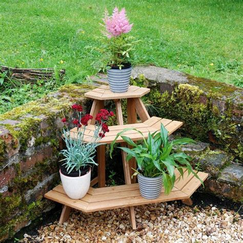 Plant Etagere Outdoor by Wooden Corner Etagere Plant Pot Garden Stand Home Outdoor