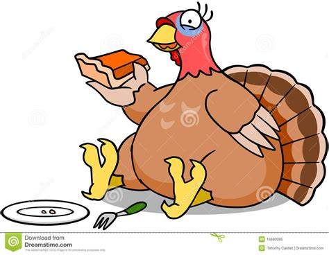 Turkey Eating Pie Royalty Free Stock Photo