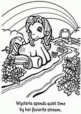 Coloring Pages Stream Pony Wysteria sketch template