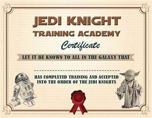 instant dl jedi knight certificate star wars birthday by With star wars jedi certificate template free
