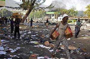 Looting follows violent fuel protests in Haitian capital ...