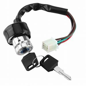 Universal 6 Wire Ignition Switch 3 Position 2 Keys