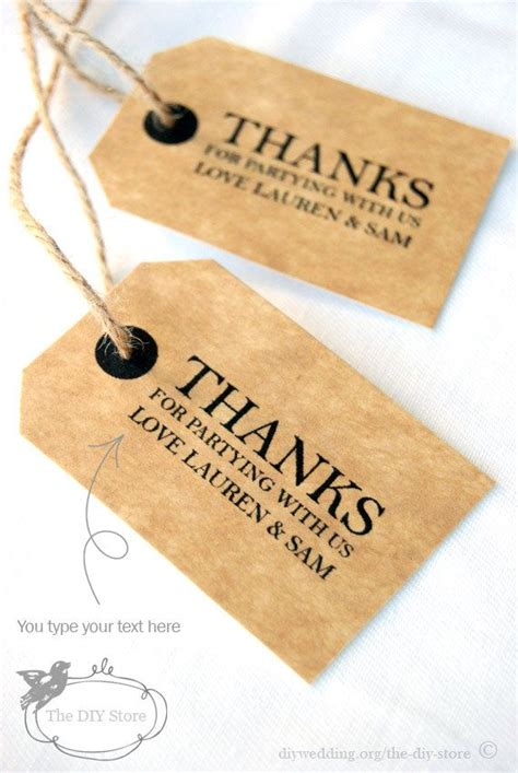 Wedding Favor Labels Template by Gift Tag Diy Printable Text Editable Wedding Thank You