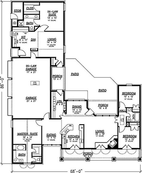 floor plans with inlaw apartment house with 3 car garage and in apartment multi