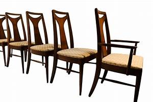 Mid, Century, Modern, Walnut, High, Back, Dining, Chairs
