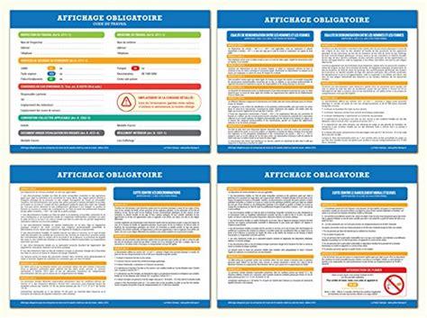 affichage bureau affichage obligatoire code du travail 2016 toutes les