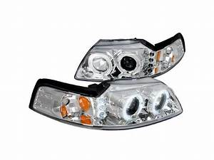 Spec-D Tuning For 1999-2002 Ford Mustang Led Projector Headlights 1999 2000 2001 2002 (Left ...