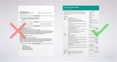 food service resume sle writing guide 20 exles