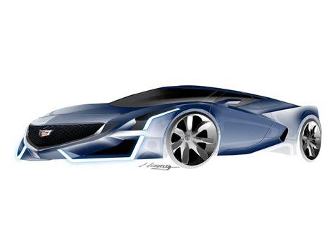 Cadillac Mid Engine by Po Yuan Huang Cadillac Mid Engine Supercar Car Design 3