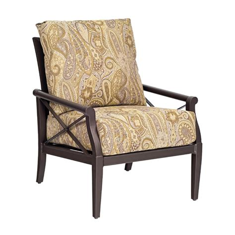 woodard andover cushion stationary lounge chair 510406
