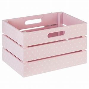 Malle De Rangement Plastique : cagette rangement enfant 29x20cm rose ~ Dailycaller-alerts.com Idées de Décoration