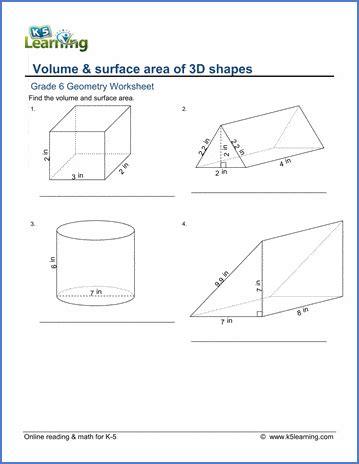 sixth grade math worksheets  printable  learning