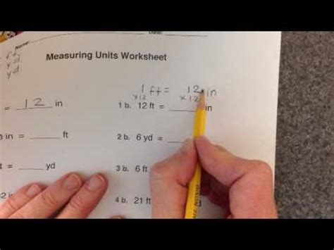 measuring units worksheet youtube