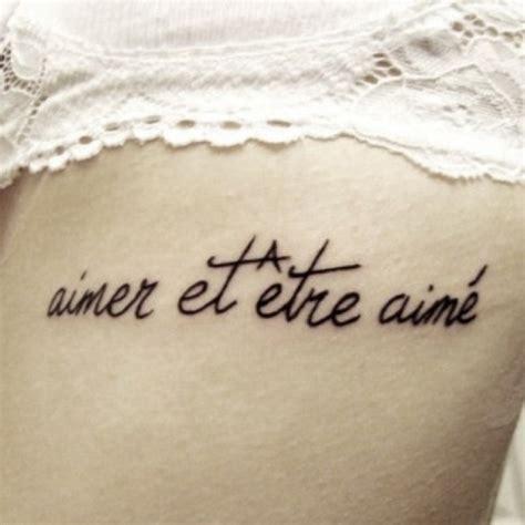 Tatouage Phrase  33 Exemples De Citations D'amour En Français
