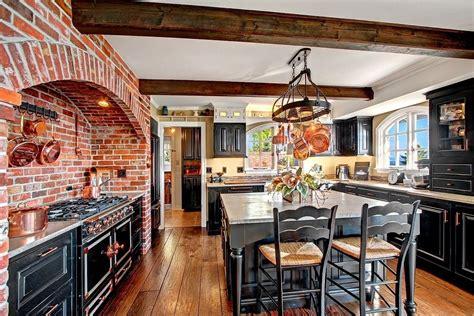 rustic kitchen  kitchen island glass panel  shaped bella beams breakfast bar mayflower