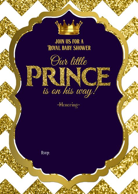 royal baby shower printable invitations cakraest