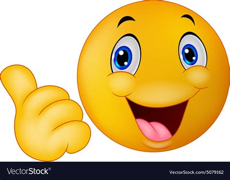 Image Thumbs Up Happy Smiley Emoticon Giving Thumbs Up Royalty Free Vector