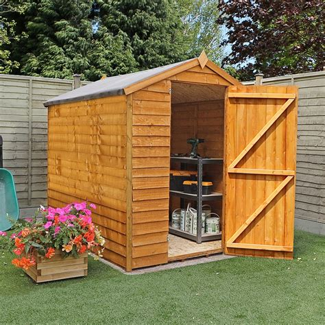shed windows uk 8 x 6 waltons overlap apex garden shed without windows