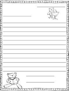 friendly letter writing template  scaffolding
