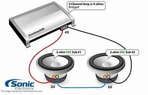 Subwoofer Wiring One 2ohm Dual Voice Coil In