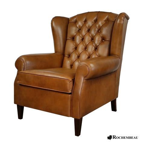 canape cuir haute qualite fauteuil oreille dossier haut appui tête