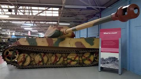 King Tiger II Ausf. B Tank V2 prototype at the Tank Museum ...