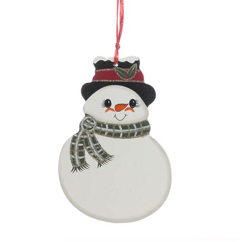 amazoncom snowman christmas snowman with scarf wood ornament signs ornaments