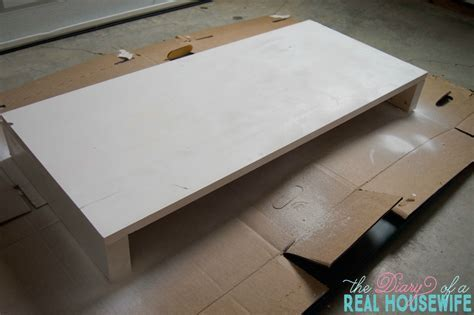 DIY Table Top TV Shelf   The Diary of a Real Housewife