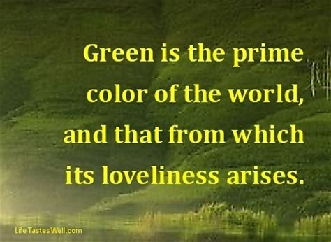 color green quotes quotesgram