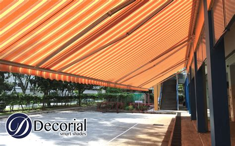decorial fabric replacement  giant arm retractable awning  singapore renowned primary