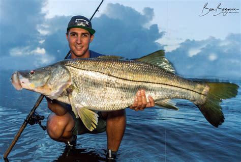 snook fishing florida monster begovic fish ben fisherman beach angler avid