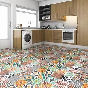 Stickers Carreaux De Ciment Cuisine : stickers carreaux de ciment sol timeo anti d rapant 100 ~ Melissatoandfro.com Idées de Décoration