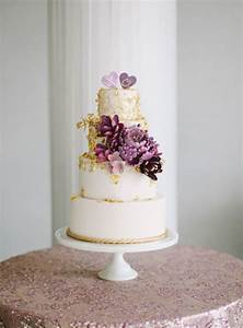 Purple and Gold Wedding Cake - Elizabeth Anne Designs: The ...