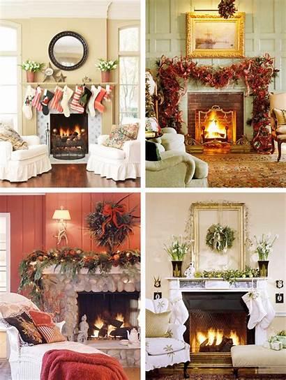 Mantel Christmas Decorations Decorating Mantle Mantels Decor