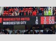 Manchester United vs Man City Premier League Match 23