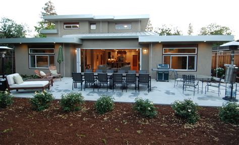 tri fold doors patio traditional with backyard balcony
