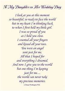 touching and heartfelt poem for daughters on your With letter to mother of the bride from daughter