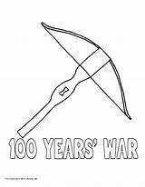 Coloring Crossbow War Hundred Years History Printables Designlooter sketch template