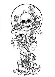 Gothic Back Tattoo V2 | Skull coloring pages, Fairy
